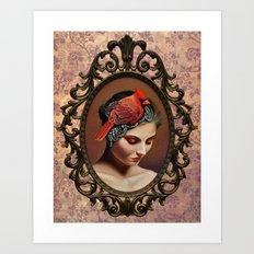 Dame Kardinal Art Print