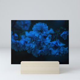 Cherry blossom blues Mini Art Print