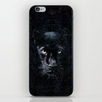 panther iPhone & iPod Skins featuring PANTHER by FLUFFY REMAINS