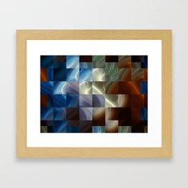 Metal Squares Framed Art Print
