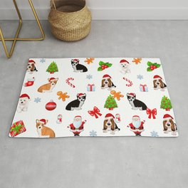 Christmas,festive puppy pattern decor Rug