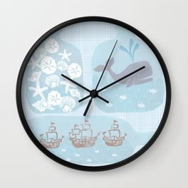 Collecting Summer Wall Clock