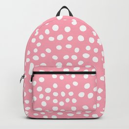 Bright pink and white doodle dots Backpack