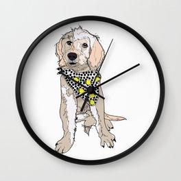 Lemon the Labradoodle Wall Clock