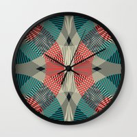 mermaids Wall Clocks featuring Mermaids by La Señora