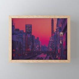 Dotonbori Dusk Framed Mini Art Print