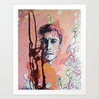 james franco Art Prints featuring James Franco by Katarzyna Typek