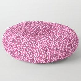 Hand Knit Hot Pink Floor Pillow