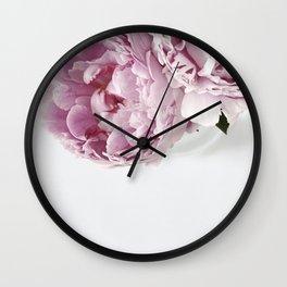 Two Peonies Wall Clock