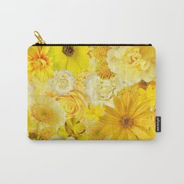 Yellow Rose Bouquet with Gerbera Daisy Flowers Carry-All Pouch