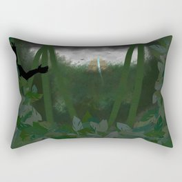 Jungle temple Rectangular Pillow