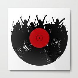 Vinyl record party Metal Print