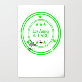 ABC Green Canvas Print