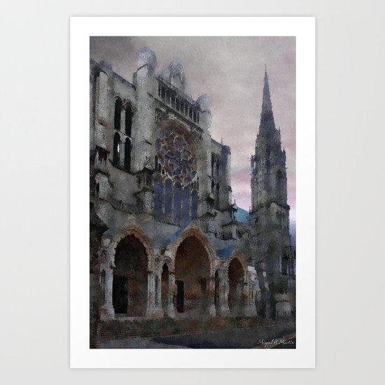 Gray on Gray Art Print