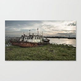 Old Police Boats Canvas Print