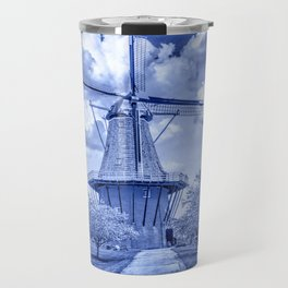 Delft Blue Dutch Windmill Travel Mug