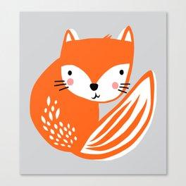 Fox Print by Tasha Johnson Canvas Print