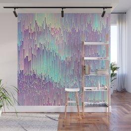 Iridescent Glitches Wall Mural