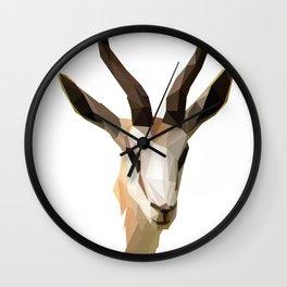 Low Poly Antelope Wall Clock