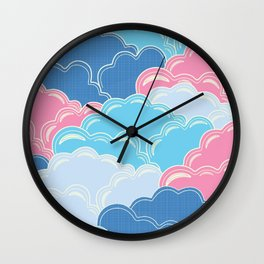 Pillows in the Sky (Clouds no.2) Wall Clock