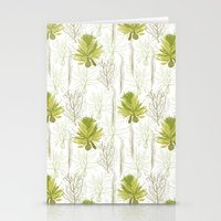 green pattern Stationery Cards featuring Green pattern  by LOLIA-LOVA