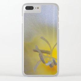White Freesia #2 Clear iPhone Case