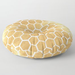 Gold honey bee Floor Pillow