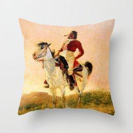 "Frederic Remington Western Art ""Modern Comanche"" Throw Pillow"