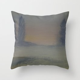Winter tranquility Throw Pillow