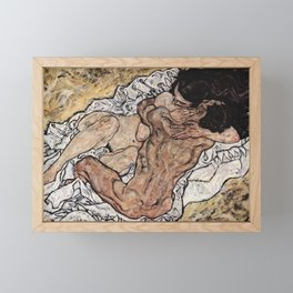Egon Schiele - Lovers II Framed Mini Art Print