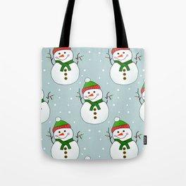 Christmas Snowman Pattern  -  Merry Christmas Tote Bag