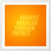 MetaType Orange Art Print