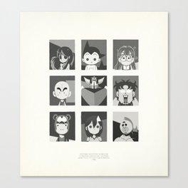 Super Mercredi Bros Heroes (3/8) Canvas Print