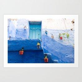 Doorways - Shades of Chefchaouen Blue Art Print
