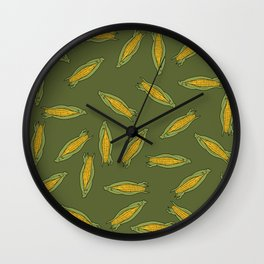 Corn pattern Wall Clock