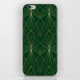 Art Deco in Gold & Green iPhone Skin