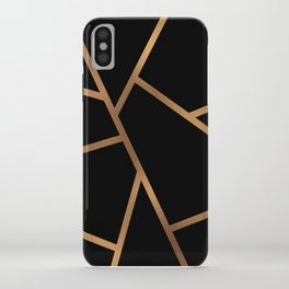 Black and Gold Fragments - Geometric Design iPhone Case