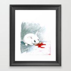 can i finish? Framed Art Print