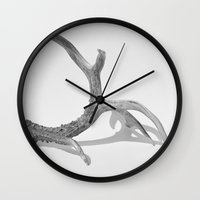 antler Wall Clocks featuring Antler by Nicki Klepper