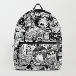 Ahegao hentai faces Backpack