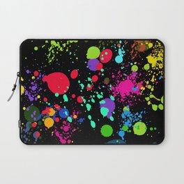 Paint Splatters on Black Laptop Sleeve