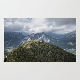 Landscape Mountain view Banff Gondola Rug