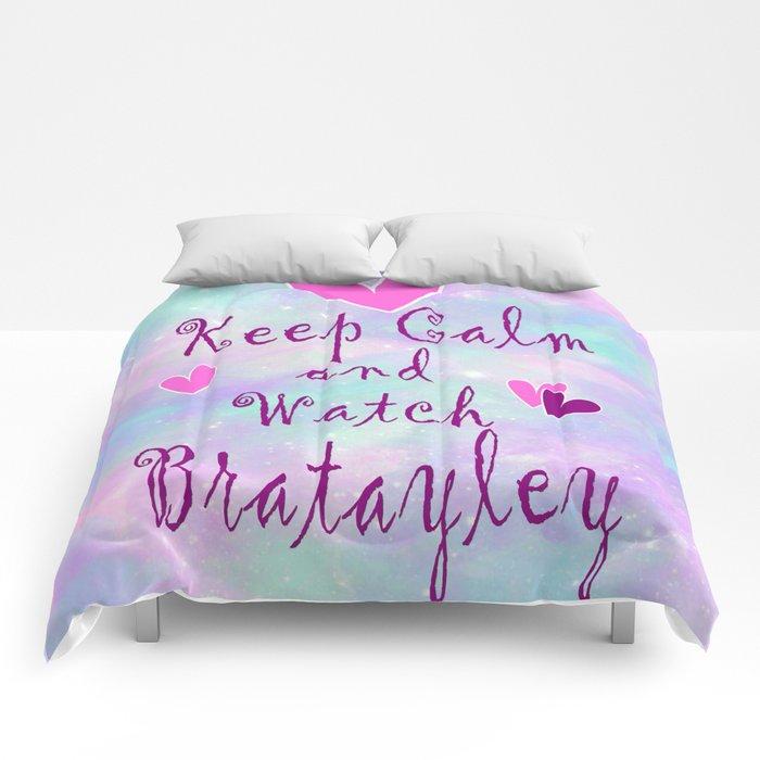 Bratayley Keep Calm Comforters