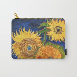 Van Gogh, Five Sunflowers 1888 Artwork Reproduction, Posters, Tshirts, Prints, Bags, Men, Women, Kid Carry-All Pouch