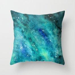 Galaxy watercolor n.2 Throw Pillow