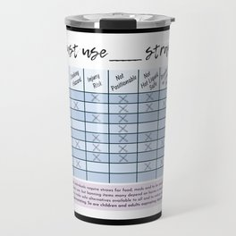 Straw Bans Suck #SuckItAbleism Travel Mug