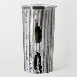 Old Wood Texture Travel Mug