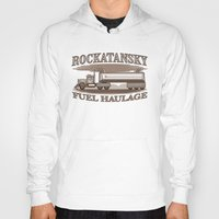pocket fuel Hoodies featuring Rockatansky Fuel Haulage by Doodle Dojo