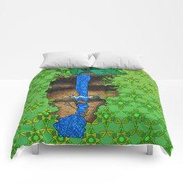 Munising Falls Comforters