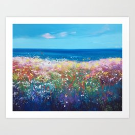 Hedgerows and Butterflies Art Print